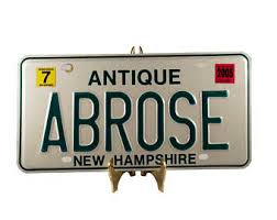 New Hampshire Vanity Plate Housewares Characterized By Elegance By Sfkvintage On Etsy