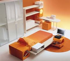 Japanese Style Desk Japanese Style Modern Kids Bedroom Furniture Set In Orange Color