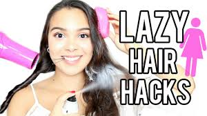 26 lazy hairstyling hacks 10 lazy hair hacks that will change your life youtube
