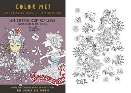 Color Me Free Coloring Pages September 2015 The Artful Blog Of Coloring Pages For September