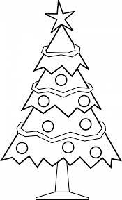 christmas christmas tree coloring page free photo inspirations