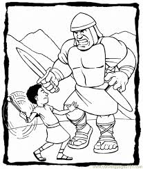david u0026 goliath printables free printable coloring page david