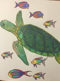 waterlife coloring book by georgie woolridge green sea turtle