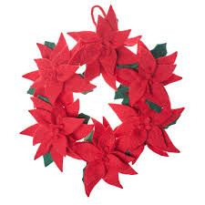 poinsettia wreath handmade in nepal global goods partners