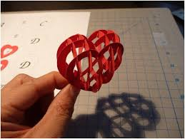 valentine u0027s day pop up card 3d heart tutorial creative pop up cards