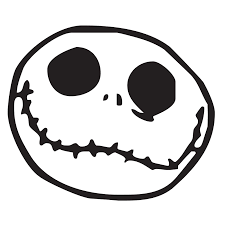 halloween face decals jack skellington die cut vinyl decal pv586