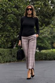 Ohio travel outfits images Melania trump 39 s travel look is pricey and on point video