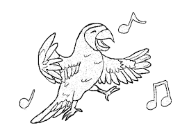 coloring pages animals blue crowned green parrot coloring page