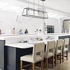 White Kitchen Dark Island White Kitchens Ideal Home