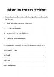 17 best images of worksheets circle subject underline the subject