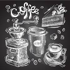 hand drawn sketch coffee elements vector 09 vector food free