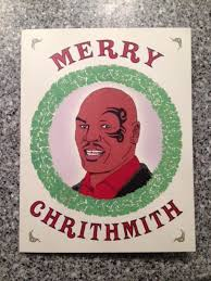 mike tyson christmas card christmas lights card decore