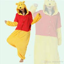 Kigurumi Halloween Costume Cosplay Costume Winnie Pooh Onesies Pajamas Kigurumi Jumpsuit
