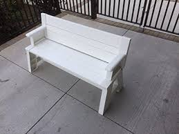 Bench Outdoor Furniture Amazon Com Premiere Products 5rcat Resin Convert A Bench