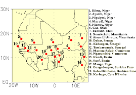 west africa map blank climate prediction center monitoring and data global