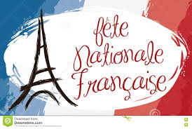 French Flag Banner Brushstroke Style Banner With France Flag And Eiffel Tower Vector