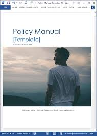 free manual template word policy procedures manual templates ms word 68 pages