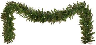 lighted garland fraser fir prelit led