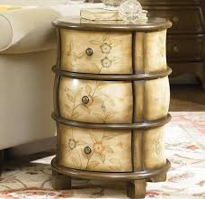 furniture mysterious and impressive round nightstand with drawer
