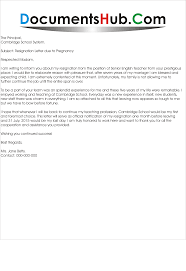 Sample Withdrawal Of Resignation Letter Letter Due To Pregnancy