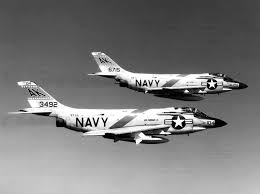 Squadron Canopies by Two U S Navy Mcdonnell F3h Demons From Fighter Squadron Vf 13