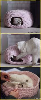 knitting pattern cat cave crochet round cat nest house free pattern crochet cat house