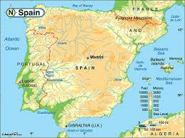 physical map of spain physical geography and environment spainby mayra