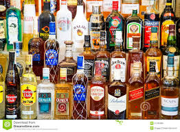 alcoholic drinks bottles alcohol drinks bottles on shelves editorial stock image image