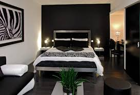chambre coucher blanc et noir chambre coucher noir gris blanc jaune et idee photoration