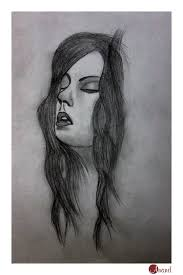 charcoal sketch of a u0027s face desipainters com