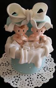 baby shower cake topper twins boys cake topper twins baby girls