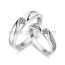 personalized wedding band curved shaped cubic zirconia personalized wedding bands for 2