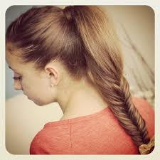 easy fishtail braid pony for medium length hair fmag com