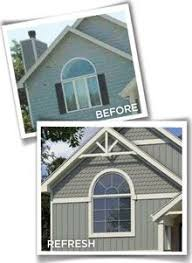 love the board and batten vinyl siding not to mention the color