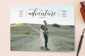 save the date photo magnets the adventure begins save the date cards by schmidt minted