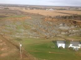 bureau de change vincennes impressive clay landslide in st luc de vincennes canada