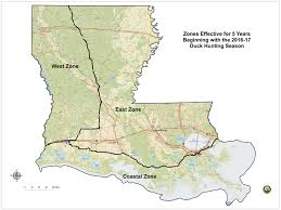 louisiana map areas migratory and waterfowl louisiana department of wildlife and