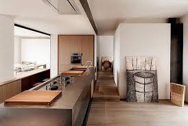 long kitchen island design for the revamped apartment in italy