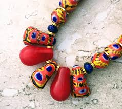 wedding bead necklace images African tribal necklace vintage kiffa necklace trade beads JPG