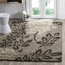 Brown Area Rugs Safavieh Florida Shag Collection Sg456 7928 Smoke And