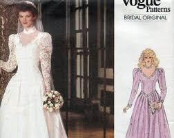 1985 wedding dresses 2965 vogue wedding dress pattern cowl neck dress plunging back