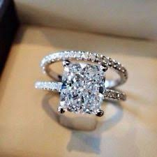 radiant cut engagement ring radiant cut diamond ring ebay