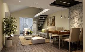 3d dining living room of duplex house ceiling pinterest