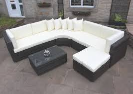 Curved Patio Sofa by Rattan Outdoor Curved Corner Sofa Set Garden Furniture In Brown