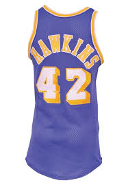 lot detail circa 1974 connie hawkins los angeles lakers game