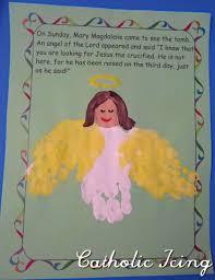angel handprint craft for kids lent easter pinterest craft