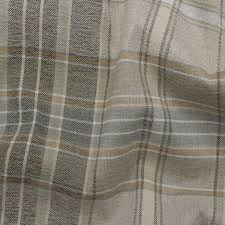 designer discount linen look tartan check plaid curtain upholstery