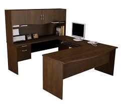 Office Table Back View Bestar Harmony U Shaped Computer Desk