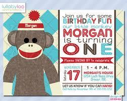 sock monkey birthday invitations wblqual com