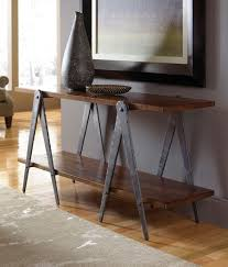 70 inch console table charleston forge sawhorse 70 console handmade metal furniture